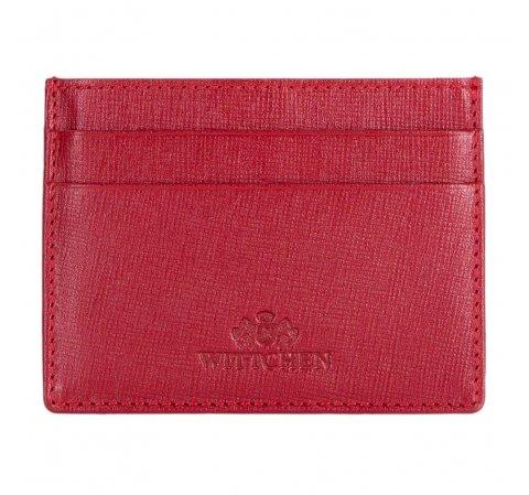 Etui na karty kredytowe, czerwony, 14-2S-003-3, Zdjęcie 1