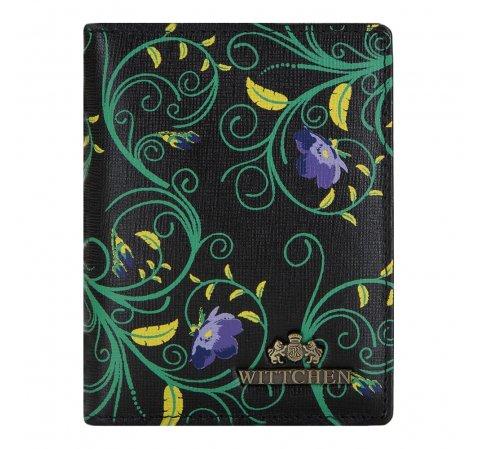 Etui na karty kredytowe, czarno - zielony, 14-2S-163-1X, Zdjęcie 1
