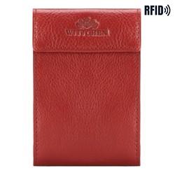 Etui na karty skórzane rozkładane, czerwony, 21-2-028-L3, Zdjęcie 1