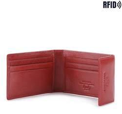 Etui na karty skórzane proste, czerwony, 21-2-011-L3, Zdjęcie 1