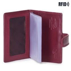 Etui na karty kredytowe, bordowy, 14-2L-201-3, Zdjęcie 1