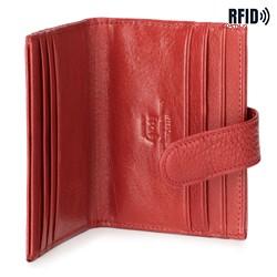 Etui na karty skórzane na napę, czerwony, 21-2-027-L3, Zdjęcie 1