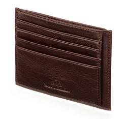 Etui na karty skórzane minimalistyczne, brązowy, 21-2-030-44, Zdjęcie 1