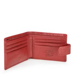 Etui na karty skórzane z herbem na napę, czerwony, 22-2-031-3, Zdjęcie 1