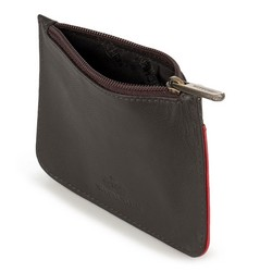Etui na karty kredytowe, brązowo - czerwony, 89-2-001-53, Zdjęcie 1