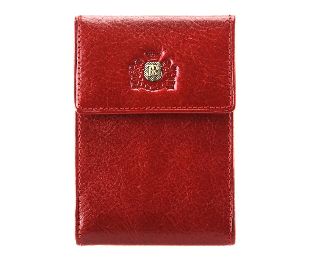 Кредитница Wittchen 22-2-011-3, красныйКредитница из коллекции Roma, ручной работы из прочной, слегка глянцевой телячьей кожи. Логотип - металлический значок с гербом WITTCHEN золотого цвета. Кредитница является отличным дополнением кошелька, благодаря которой кредитные карты всегда будут под рукой.  Упакована в  эксклюзивную упаковку с фирменным логотипом WITTCHEN.  Особенности модели:  2 кармана;  6 слотов для кредитных карт.<br><br>секс: женщина<br>материал:: Натуральная кожа<br>высота (см):: 11,5<br>ширина (см):: 8