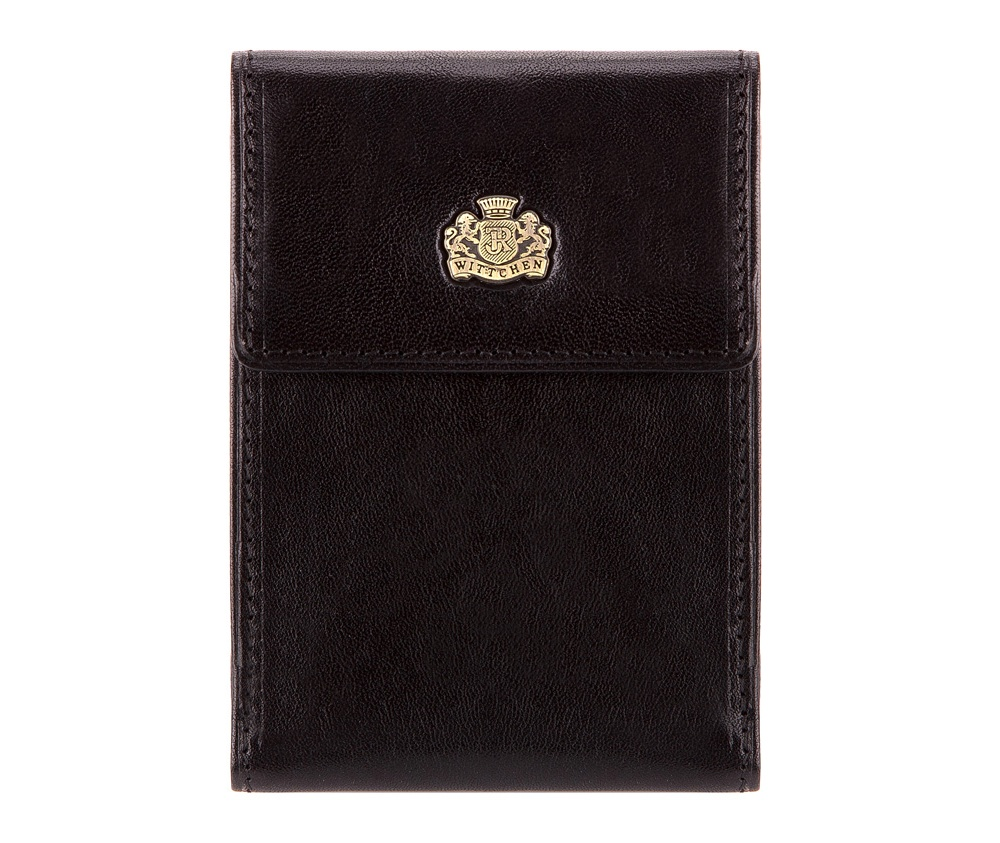 КредитницаФутляр для кредитных карт из коллекции Arizona. Сделан из прочной телячьей кожи, обладающей мягким блеском, логотип- металический значок с гербом WITTCHEN в цвете старого золота. Футляр упакован в подарочную упаковку с логотипом WITTCHEN.&#13;<br>Внутри:&#13;<br>&#13;<br>    2 кармана;&#13;<br>    6 отделений для кредитных карт;<br><br>секс: унисекс<br>Цвет: черный<br>материал:: натуральная кожа<br>высота (см):: 11<br>ширина (см):: 8