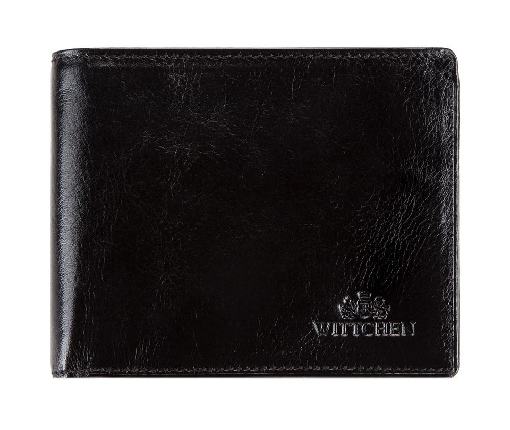 КредитницаКредитница из коллекции Italy. Сделана из мягкой телячьей кожи. Логотип- герб WITTCHEN тисненый на коже. Имеет подарочную упаковку с логотипом WITTCHEN.&#13;<br>Кредитница состоит:&#13;<br>&#13;<br>    2 отделения для купюр,&#13;<br>    9 отделений для кредитных карт,&#13;<br>    6 карманов, один из них прозрачный<br><br>секс: унисекс<br>Цвет: черный<br>материал:: натуральная кожа<br>высота (см):: 10<br>ширина (см):: 12.5
