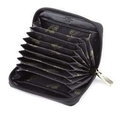 Etui na karty kredytowe skórzane na suwak, czarny, 21-2-218-1, Zdjęcie 1
