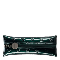 Etui na klucze ze skóry lakierowanej z monogramem, zielony, 34-2-135-0S, Zdjęcie 1