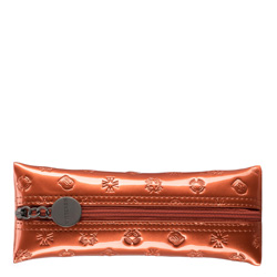 Etui na klucze ze skóry lakierowanej z monogramem, pomarańczowy, 34-2-135-6S, Zdjęcie 1