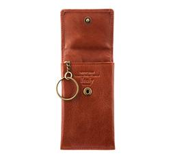 Etui na klucze skórzane prostokątne, jasny brąz, 21-2-015-5, Zdjęcie 1