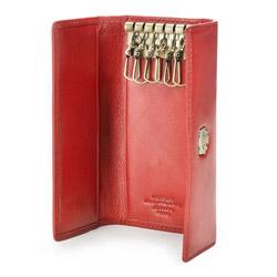 Etui na klucze ze skóry z herbem, czerwony, 10-2-098-3, Zdjęcie 1