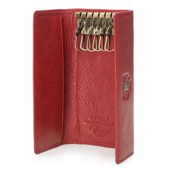 Etui na klucze skórzane z herbem, czerwony, 22-2-098-3, Zdjęcie 1