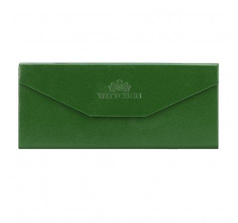 Etui na okulary skórzane składane, zielony, 14-2-196-0, Zdjęcie 1