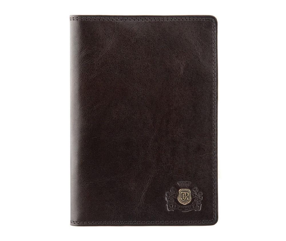 Обложка для паспортаОбложка для паспорта из коллекции Da Vinci. Сделана из телячьей кожи. Логотип- металлический значок тисненый на гербес монограммой цвета старого золота.Обложка имеет эксклюзивную упаковкус фирменным логотипом WITTCHEN.&#13;<br>&#13;<br>Внутри&#13;<br>2 отделения для паспорта;<br><br>секс: унисекс<br>Цвет: коричневый<br>материал:: натуральная кожа<br>высота (см):: 13.5<br>ширина (см):: 9.5