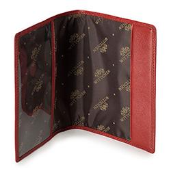 Etui na paszport skórzane proste, czerwony, 21-5-128-3, Zdjęcie 1