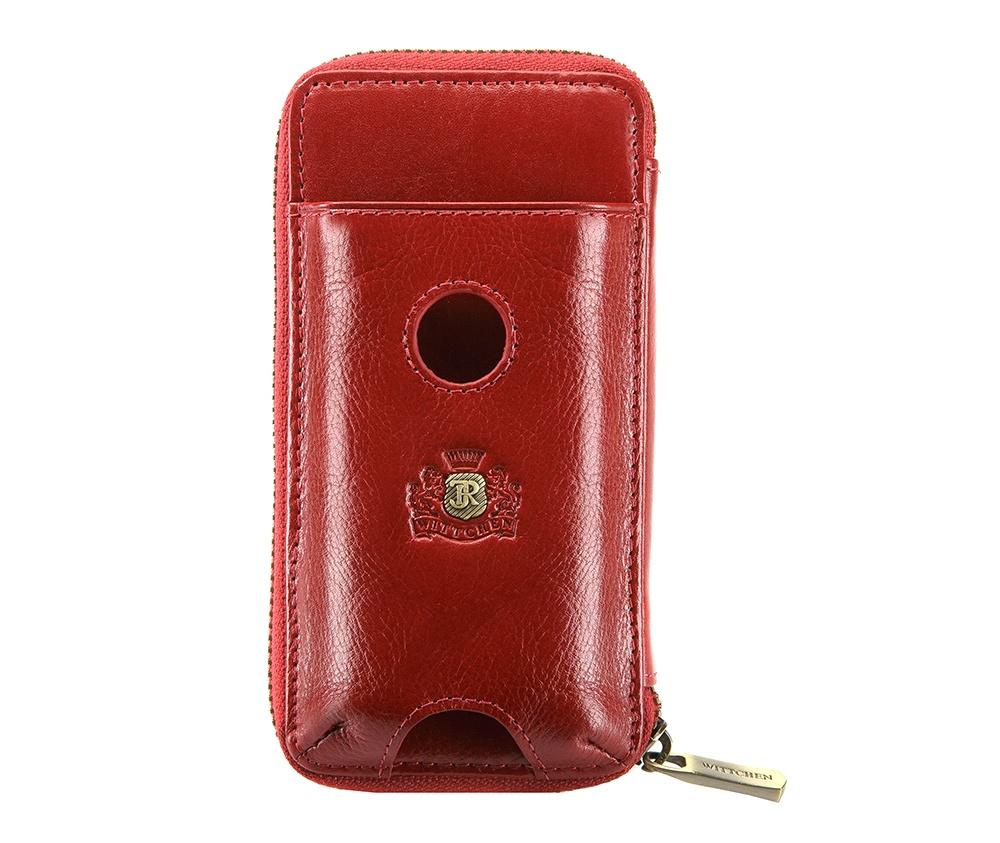 Чехол для телефона и документов Wittchen 22-1-114-3, красныйФутляр для телефона и документов из коллекции Roma, изготовлен из натуральной телячьей кожи высочайшего качества. Фирменный знак выполнен в виде  тиснения на коже. Упакован в фирменную коробку с логотипом WITTCHEN.    Особенности модели:    отделение для мелочи на молнии;  5 слотов для кредитных карт;  2 отделения.    Дополнительно:    отделение для мобильного телефона размеров 5,8см x 1 см x 11,5 см;  съемная ручка.<br><br>секс: женщина<br>материал:: натуральная кожа<br>высота (см):: 15<br>ширина (см):: 7