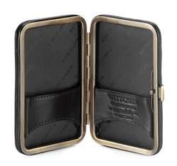 Etui na wizytówki skórzane z mandalą, czarny, 04-2-250-1, Zdjęcie 1