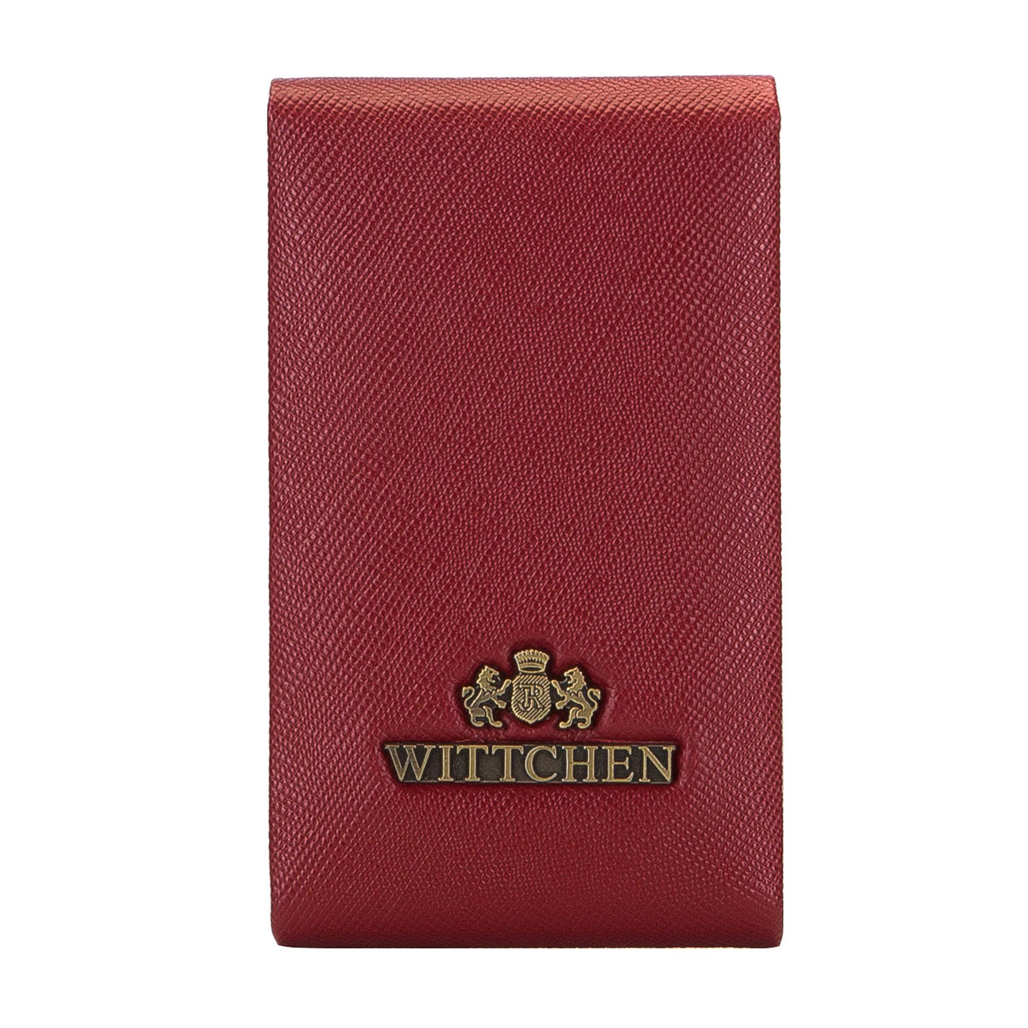 Футляр на визиткиФутляр для визиток, сделан из прочной, слегка глянцевой телячьей кожи. Логотип - металлический значок с гербом WITTCHEN цвета старого золота. Кошелек упакован в эксклюзивную упаковку - с лого комании WITTCHEN. Футляр имеет: место для визитных карточек с механизмом из металла,  закрывается на магнит.<br><br>секс: женщина<br>высота (см):: 11<br>ширина (см):: 7