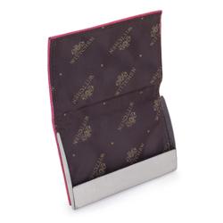 Etui na wizytówki ze skóry saffiano, różowy, 13-2-133-RP, Zdjęcie 1