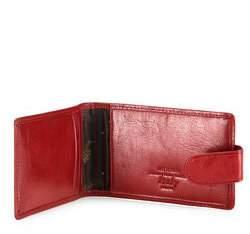 Etui na wizytówki ze skóry poziome, czerwony, 21-2-270-3, Zdjęcie 1