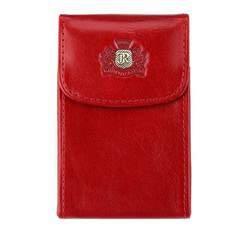 Etui na wizytówki ze skóry pionowe, czerwony, 22-2-151-3, Zdjęcie 1