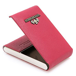 Business card holder, raspberry, 13-2-240-3, Photo 1