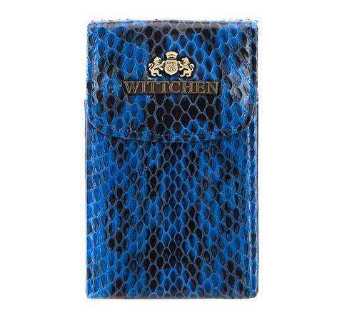Etui na wizytówki, niebiesko - czarny, 19-2-151-B, Zdjęcie 1