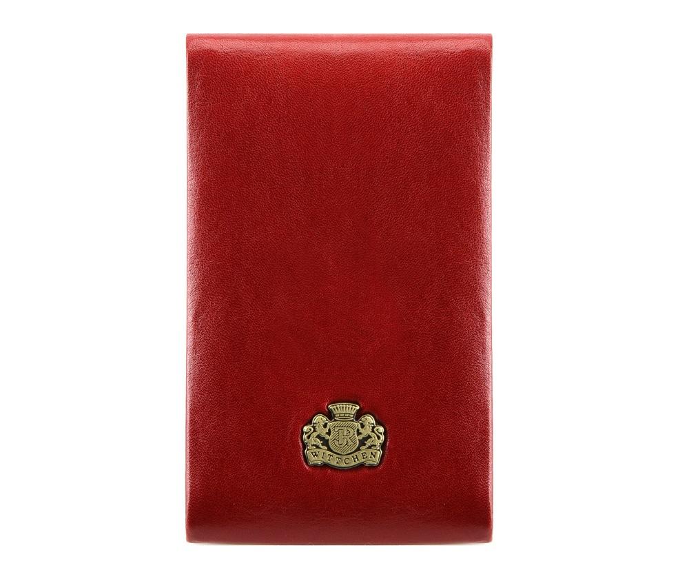 ВизитницаВизитница из коллекции Arizona. Сделана из телячьей кожи, логотип- металический значок с гербом WITTCHEN золотого цвета. Благодаря визитнице подчеркнешь свой статус и профессионализм, а визитки всегда будут в идеальном порядке. К визитнице прилагается подарочная упаковка с логотипом WITTCHEN.&#13;<br>Внутри:&#13;<br>&#13;<br>    отделение для визиток с металлическим механизмом на магните<br><br>секс: унисекс<br>высота (см):: 11<br>ширина (см):: 7