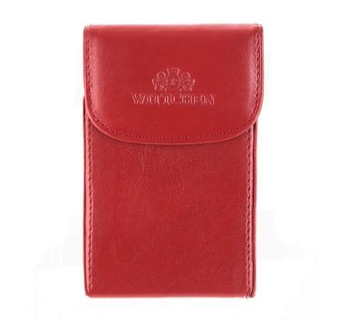 Wizytownik skórzany klasyczny, czerwono - czarny, 14-2-151-9, Zdjęcie 1