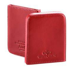 Etui na wizytówki skórzane dwuczęściowe, czerwony, 21-2-039-3, Zdjęcie 1