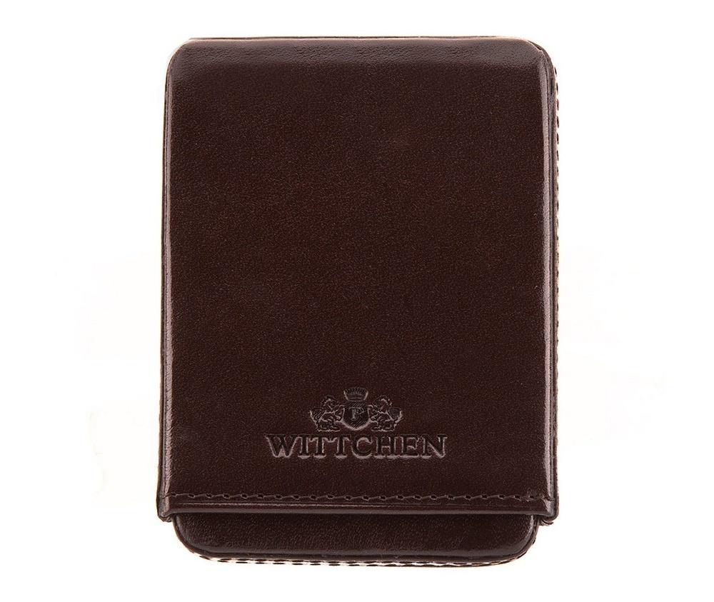 Визитница Wittchen 21-2-039-4, коричневыйВизитница из коллекции Italy с отделением на 20 визиток. Сделана из мягкой телячьей кожи. Логотип- герб WITTCHEN тисненый на коже. Благодаря визитнице подчеркнешь свой уровень и проффесионализм, а визитки всегда будут в идеальном порядке. Визитница имеет подарочную упаковку с логотипом WITTCHEN.<br><br>секс: унисекс<br>Цвет: коричневый<br>материал:: натуральная кожа<br>высота (см):: 9<br>ширина (см):: 6.5