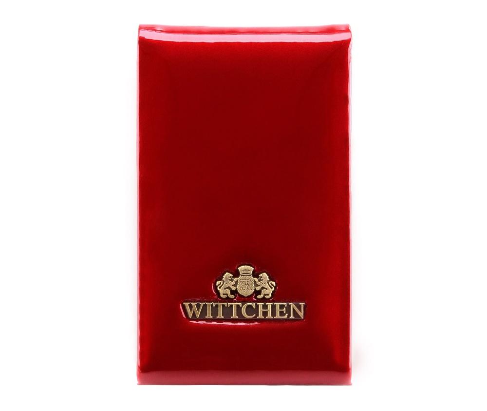 ВизитницаBизитница из коллекции Verona. Изготовлена из лакированной телячьей кожи  высочайшего качества, внутренняя отделка кошелька из натуральной кожи.  Логотип- металлический значок с гербом WITTCHEN цвета старого золота.  Упакована в фирменную коробку с логотипом WITTCHEN.  Благодаря визитнице  подчеркнешь свой статус и профессионализм, а визитки всегда будут в  идеальном порядке. &#13;<br>&#13;<br>Особенности модели:&#13;<br>&#13;<br>    отделение для визиток с металлическим механизмом на магните.<br><br>секс: женщина<br>материал:: лакированная кожа<br>высота (см):: 11<br>ширина (см):: 7