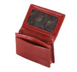 Etui na wizytówki skórzane poziome, czerwony, 21-2-052-3, Zdjęcie 1