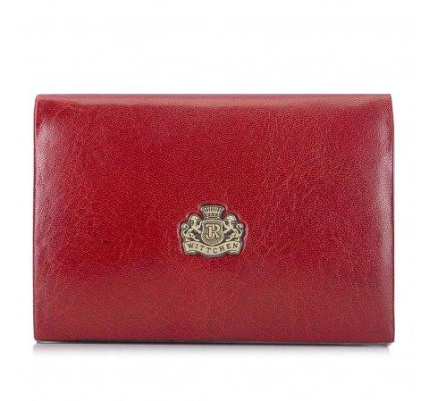 Etui na wizytówki ze skóry z herbem klasyczne, czerwony, 10-2-133-3, Zdjęcie 1