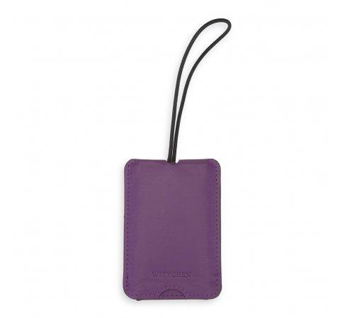 Identyfikator do bagażu monochromatyczny, fioletowy, 56-30-010-10, Zdjęcie 1