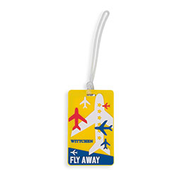 Luggage tag, yellow-blue, 56-30-017-71, Photo 1
