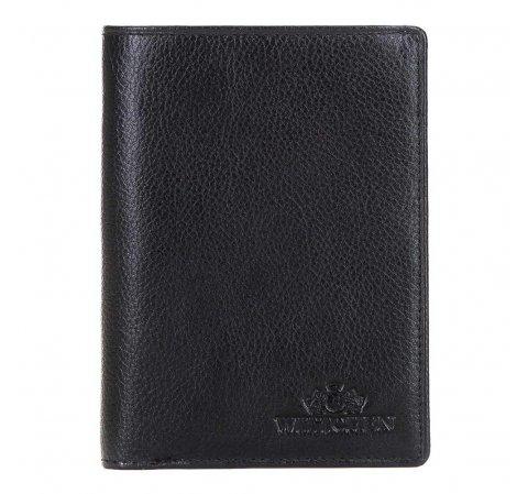 Męski portfel skórzany bez zapięcia, czarny, 21-1-020-10L, Zdjęcie 1
