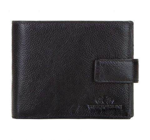 Męski portfel ze skóry duży, czarno - złoty, 21-1-216-10, Zdjęcie 1