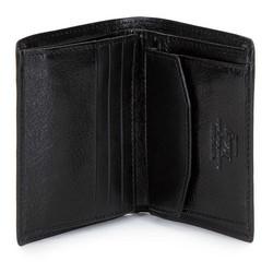 Męski portfel ze skóry mały, czarny, 21-1-023-10, Zdjęcie 1