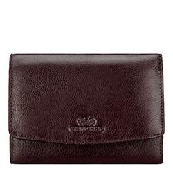 Damski portfel skórzany z kieszonką na bigiel, ciemny brąz, 21-1-062-44, Zdjęcie 1