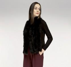 Kamizelka damska, czarny, 85-9F-005-1, Zdjęcie 1