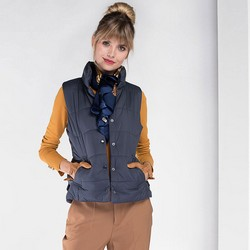 Women's gilet, navy blue, 89-9N-406-8-S, Photo 1