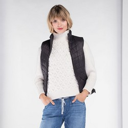 Women's gilet, black, 89-9N-407-1-3X, Photo 1