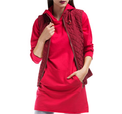 Women's gilet, red, 84-9N-112-2-M, Photo 1