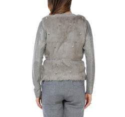 Women's gilet, grey, 83-9F-503-8-XL, Photo 1