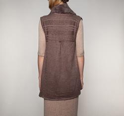Women's gilet, brown, 85-9F-002-4, Photo 1