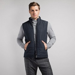 Men's vest, navy blue, 89-9N-450-7-S, Photo 1