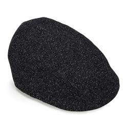 Men's cap, grey-black, 85-HF-302-2-L, Photo 1